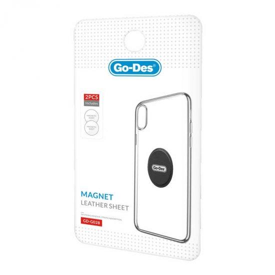 Go Des GD-G028 2 Adet Magnetik Levha Telefon Tutucular İçin - Siyah