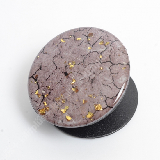 Pop Socket Telefon Tutucu Granit Desenli - Gri