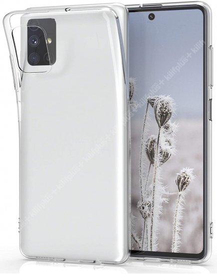 Samsung Galaxy M31s Kılıf Esnek Süper Silikon Kamera Korumalı 0.3mm - Şeffaf