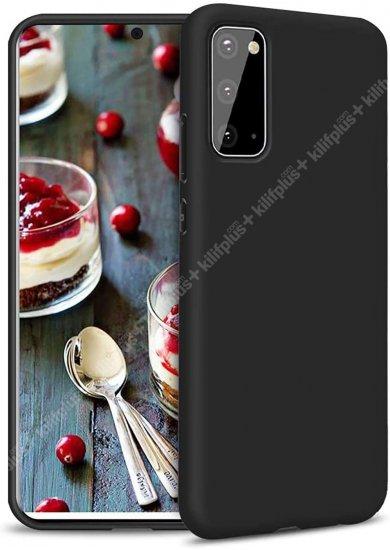Samsung Galaxy S20 FE Kılıf İnce Mat Esnek Silikon - Siyah