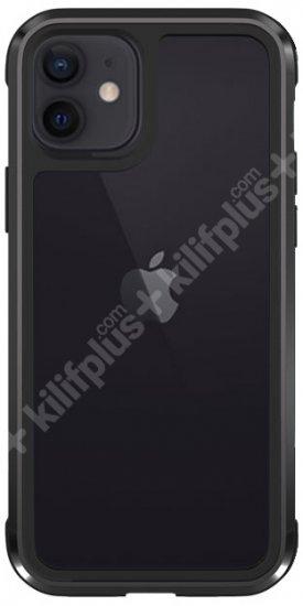 Wiwu Apple iPhone 11 Kılıf Defence Armor Serisi Arkası Şeffaf Lisanslı Kapak - Siyah