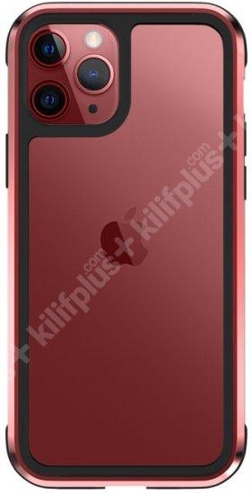 Wiwu Apple iPhone 11 Pro Kılıf Defence Armor Serisi Arkası Şeffaf Lisanslı Kapak - Kırmızı