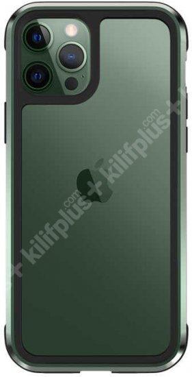 Wiwu Apple iPhone 12 Pro (6.1) Kılıf Defence Armor Serisi Arkası Şeffaf Lisanslı Kapak - Yeşil