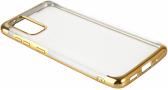 Samsung Galaxy S20 FE Kılıf Renkli Köşeli Lazer Şeffaf Esnek Silikon - Gold
