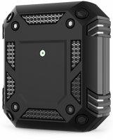 Apple AirPods Kılıf Zırh Korumalı Airbag Kılıf - Siyah