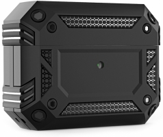 Apple AirPods Pro Kılıf Zırh Korumalı Airbag Kılıf - Siyah