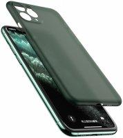 Apple iPhone 11 Pro Max Kılıf Mat Şeffaf Esnek Kaliteli Ultra İnce PP Silikon  - Koyu Yeşil