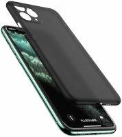 Apple iPhone 11 Pro Max Kılıf Mat Şeffaf Esnek Kaliteli Ultra İnce PP Silikon  - Siyah