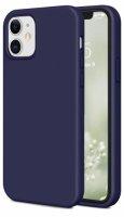 Apple iPhone 12 Mini (5.4) Kılıf İnce Mat Esnek Silikon - Lacivert