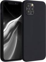 Apple iPhone 12 Pro Max (6.7) Kılıf İnce Mat Esnek Silikon - Siyah