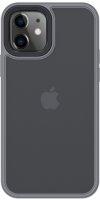 Benks Apple iPhone 12 (6.1) Case Hybrid Serisi Silikon Mat Kapak - Gümüş