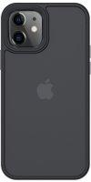 Benks Apple iPhone 12 (6.1) Case Hybrid Serisi Silikon Mat Kapak - Siyah