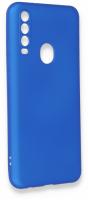 General Mobile GM 20 Pro Kılıf Silikon İnce Mat Esnek Kamera Korumalı - Mavi