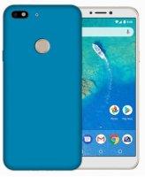 General Mobile GM 8 Go Kılıf İnce Mat Esnek Silikon - Mavi