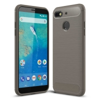 General Mobile GM 8 Go Kılıf Silikon Parmak İzi Bırakmayan Karbon Soft Room Kapak - Gri