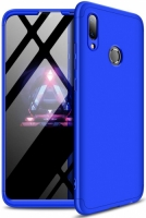 Huawei Honor 10 Lite Kılıf 3 Parçalı 360 Tam Korumalı Rubber AYS Kapak  - Mavi