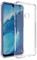 Huawei Honor 10 Lite Kılıf Clear Airbag Köşeli Darbe Korumalı Kapak - Şeffaf