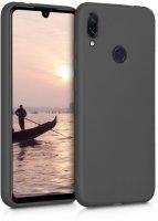 Huawei Honor 10 Lite Kılıf İnce Mat Esnek Silikon - Siyah