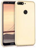 Huawei Honor 7C Kılıf İnce Mat Esnek Silikon - Gold