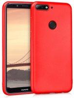 Huawei Honor 7C Kılıf İnce Mat Esnek Silikon - Kırmızı