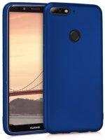 Huawei Honor 7C Kılıf İnce Mat Esnek Silikon - Lacivert