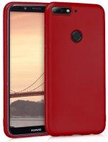 Huawei Honor 7C Kılıf İnce Mat Esnek Silikon - Mürdüm