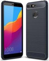 Huawei Honor 7C Kılıf Silikon Parmak İzi Bırakmayan Karbon Soft Room Kapak - Lacivert