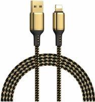 Wiwu Golden Serisi Apple Lightning Şarj Data Kablosu 2M - Gold