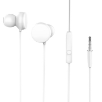 Mikrofonlu Kulaklık Kulak İçi Kumandalı 3.5mm HD Stereo - Beyaz