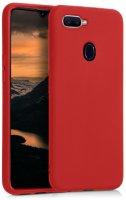 Oppo A12 Kılıf İnce Mat Esnek Silikon - Kırmızı