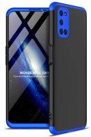 Oppo A52 Kılıf 3 Parçalı 360 Tam Korumalı Rubber AYS Kapak - Mavi Siyah