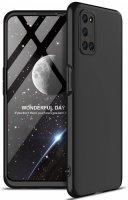 Oppo A52 Kılıf 3 Parçalı 360 Tam Korumalı Rubber AYS Kapak - Siyah