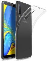 Samsung Galaxy A7 2018 Kılıf Ultra İnce Kaliteli Esnek Silikon 0.2mm - Şeffaf