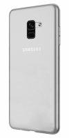 Samsung Galaxy A8 2018 Kılıf Ultra İnce Kaliteli Esnek Silikon 0.2mm - Şeffaf