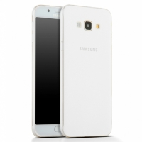 Samsung Galaxy A8 Kılıf Ultra İnce Kaliteli Esnek Silikon 0.2mm - Şeffaf