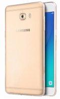 Samsung Galaxy C7 Pro Kılıf Ultra İnce Kaliteli Esnek Silikon 0.2mm - Şeffaf