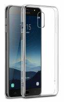 Samsung Galaxy C8 Kılıf Ultra İnce Kaliteli Esnek Silikon 0.2mm - Şeffaf