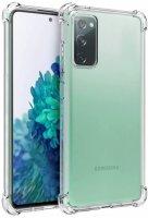 Samsung Galaxy S20 FE Kılıf Clear Airbag Köşeli Darbe Korumalı Kapak - Şeffaf