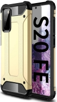 Samsung Galaxy S20 FE Kılıf Double Solid Armor Serisi Zırhlı Kapak - Gold