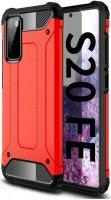 Samsung Galaxy S20 FE Kılıf Double Solid Armor Serisi Zırhlı Kapak - Kırmızı