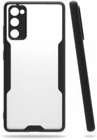 Samsung Galaxy S20 FE Kılıf Kamera Lens Korumalı Arkası Şeffaf Silikon Kapak - Siyah