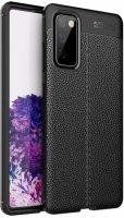 Samsung Galaxy S20 FE Kılıf Rugan Serisi Silikon Deri Görünümlü Parmak İzi Bırakmaz - Siyah