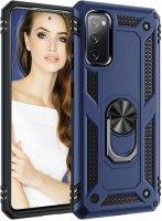 Samsung Galaxy S20 FE Kılıf Zırhlı Standlı Vega Kapak - Lacivert