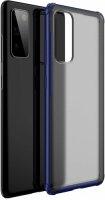 Samsung Galaxy S20 FE Kılıf Volks Serisi Kenarları Silikon Arkası Şeffaf Sert Kapak - Lacivert