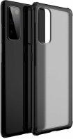 Samsung Galaxy S20 FE Kılıf Volks Serisi Kenarları Silikon Arkası Şeffaf Sert Kapak - Siyah