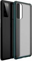 Samsung Galaxy S20 FE Kılıf Volks Serisi Kenarları Silikon Arkası Şeffaf Sert Kapak - Yeşil