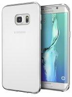 Samsung Galaxy S7 Edge Kılıf Ultra İnce Kaliteli Esnek Silikon 0.2mm - Şeffaf