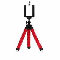 Sünger Ayaklı Telefon Tutucu Video Fotoğraf Tripod - Kırmızı