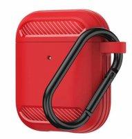 Wiwu APC005 Airpods Kılıf Karbon Zırh Şarj Kutu Koruyucu Kapak - Kırmızı