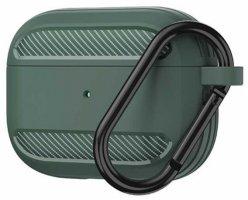 Wiwu APC005 Airpods Pro Kılıf Karbon Zırhlı Şarj Kutusu Kapak - Yeşil
